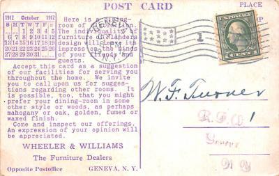 adv020043 - Furniture Advertising Old Vintage Antique Post Card  back