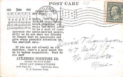 adv020045 - Furniture Advertising Old Vintage Antique Post Card  back