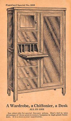 adv020047 - Furniture Advertising Old Vintage Antique Post Card