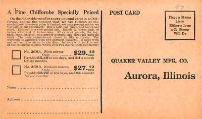 adv020047 - Furniture Advertising Old Vintage Antique Post Card  back