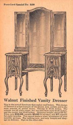 adv020057 - Furniture Advertising Old Vintage Antique Post Card
