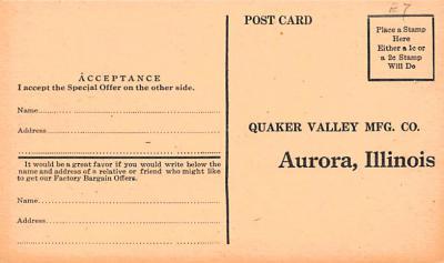 adv020057 - Furniture Advertising Old Vintage Antique Post Card  back
