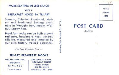 adv020063 - Furniture Advertising Old Vintage Antique Post Card  back