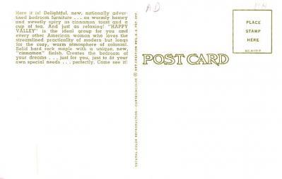 adv020077 - Furniture Advertising Old Vintage Antique Post Card  back