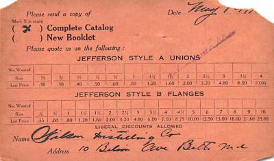 adv022391 - Hardware Advertising Old Vintage Antique Post Card