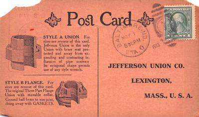 adv022391 - Hardware Advertising Old Vintage Antique Post Card  back