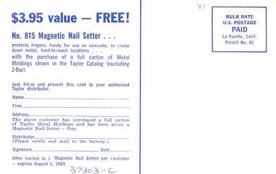 adv022395 - Hardware Advertising Old Vintage Antique Post Card  back