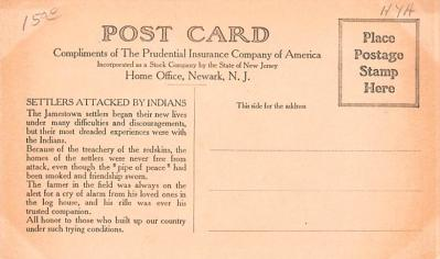 adv025035 - Insurance Advertising Old Vintage Antique Post Card  back
