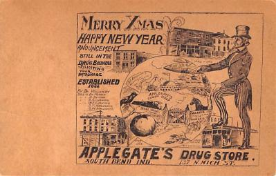 adv028055 - Medicine Advertising Old Vintage Antique Post Card