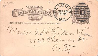 adv030011 - Office Related Advertising Old Vintage Antique Post Card  back