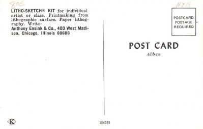 adv030027 - Office Related Advertising Old Vintage Antique Post Card  back