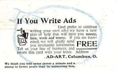 adv035125 - Publications Advertising Old Vintage Antique Post Card