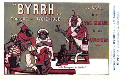 adv100011 - Advertising Byrrh Postcard Tonique Hygienique A Base De Vins Genereux de Quinquina Old Vintage Antique Post Card