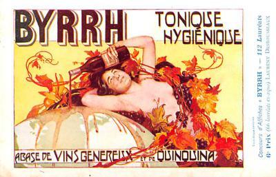 adv100021 - Advertising Byrrh Postcard Tonique Hygienique A Base De Vins Genereux de Quinquina Old Vintage Antique Post Card