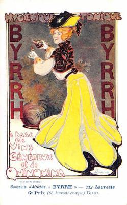 adv100031 - Advertising Byrrh Postcard Tonique Hygienique A Base De Vins Genereux de Quinquina Old Vintage Antique Post Card