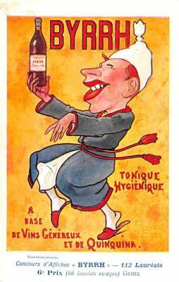 adv100039 - Advertising Byrrh Postcard Tonique Hygienique A Base De Vins Genereux de Quinquina Old Vintage Antique Post Card