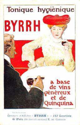 adv100045 - Advertising Byrrh Postcard Tonique Hygienique A Base De Vins Genereux de Quinquina Old Vintage Antique Post Card