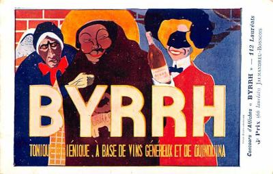 adv100057 - Advertising Byrrh Postcard Tonique Hygienique A Base De Vins Genereux de Quinquina Old Vintage Antique Post Card