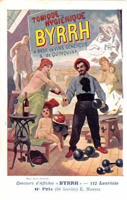 adv100079 - Advertising Byrrh Postcard Tonique Hygienique A Base De Vins Genereux de Quinquina Old Vintage Antique Post Card