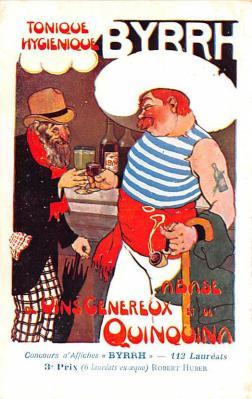 adv100111 - Advertising Byrrh Postcard Tonique Hygienique A Base De Vins Genereux de Quinquina Old Vintage Antique Post Card
