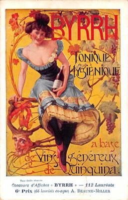 adv100121 - Advertising Byrrh Postcard Tonique Hygienique A Base De Vins Genereux de Quinquina Old Vintage Antique Post Card