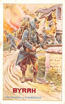 adv100123 - Advertising Byrrh Postcard Tonique Hygienique A Base De Vins Genereux de Quinquina Old Vintage Antique Post Card