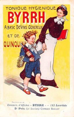 adv100141 - Advertising Byrrh Postcard Tonique Hygienique A Base De Vins Genereux de Quinquina Old Vintage Antique Post Card