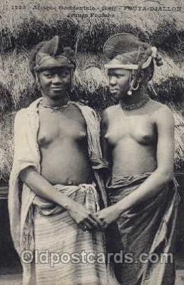 afr000023 - African Nude Nudes Postcard Post Card
