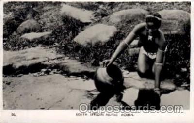 afr000063 - African Nude Nudes Postcard Post Card