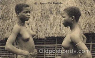 afr001279 - African Nude Nudes Postcard Post Card