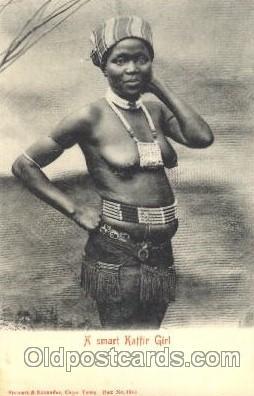 afr001322 - Kaffir girl African Nude, Nudes, Postcard Post Card