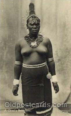 afr001362 - A Chief Betrothed African Nude Post Card Post Card