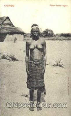 afr001399 - congo African Nude Post Card Post Card