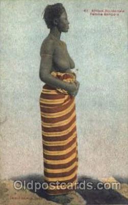 afr001410 - Femme Bambara African Nude Post Card Post Card