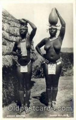 afr001414 - African Beauties African Nude Post Card Post Card