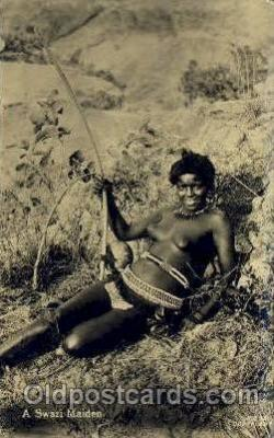 afr001433 - A Swazi Maiden African Nude Post Card Post Card