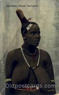 afr001470 - Zulu Woman African Nude Post Card Post Card