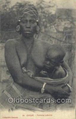 afr001777 - Dakar - Femme Lahobe African Nude Nudes Postcard Post Card
