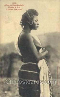 afr001819 - Femme Malinke African Nude Nudes Postcard Post Card