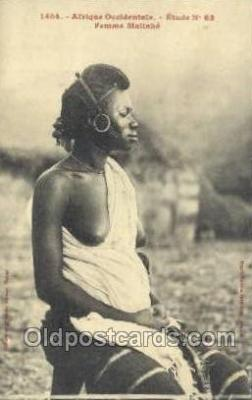 afr001820 - Femme Malinke African Nude Nudes Postcard Post Card