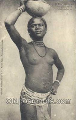 afr001877 - Gerere None African Nude Nudes Postcard Post Card