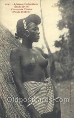 afr001879 - Fouta Djallow African Nude Nudes Postcard Post Card