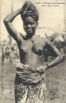 afr001962 - African Nude Nudes Postcard Post Card
