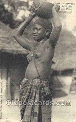 afr001994 - African Nude Nudes Postcard Post Card
