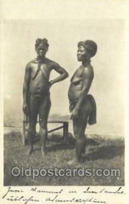 afr002175 - African Nude Nudes Postcard Post Card