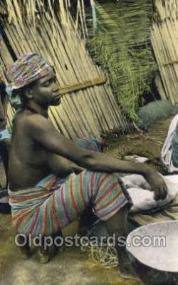 afr002225 - African Nude Nudes Postcard Post Card