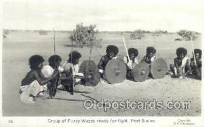 afr100182 - Fuzzy Wuzzy, Port Sudan African Life Postcard Post Card