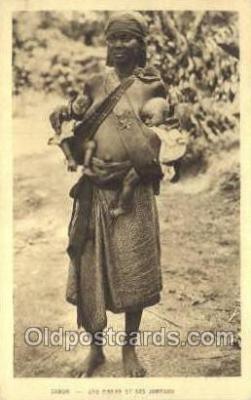 afr100296 - Gabon African Life Postcard Post Card