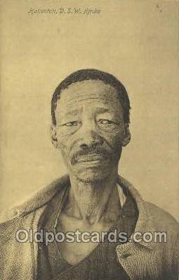afr100330 - Hottentott, D.S.W. Africa African Life Postcard Post Card