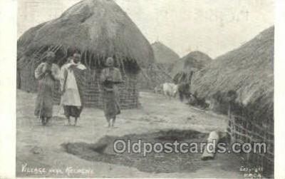 afr100453 - Villiage Near Kologwe African Life Postcard Post Card